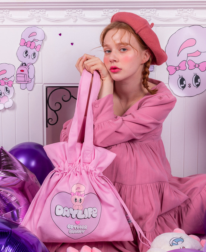 ★NEW COLLABORATION★デイライフ♥エスダバニー BIG HEART LUCKY BAG(PINK)_謝恩品贈呈💝