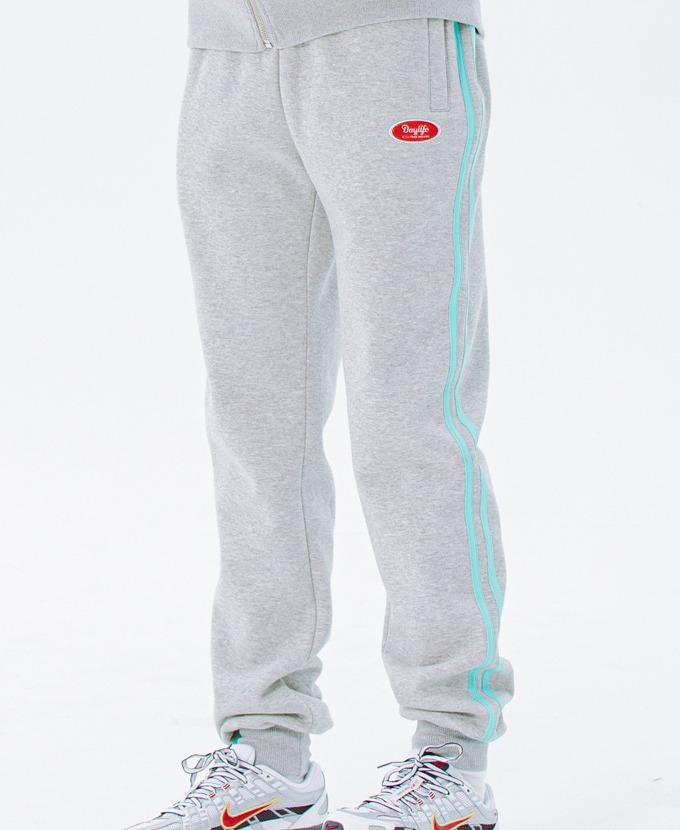 DAYLIFE LINE SWEAT PANTS (GRAY)