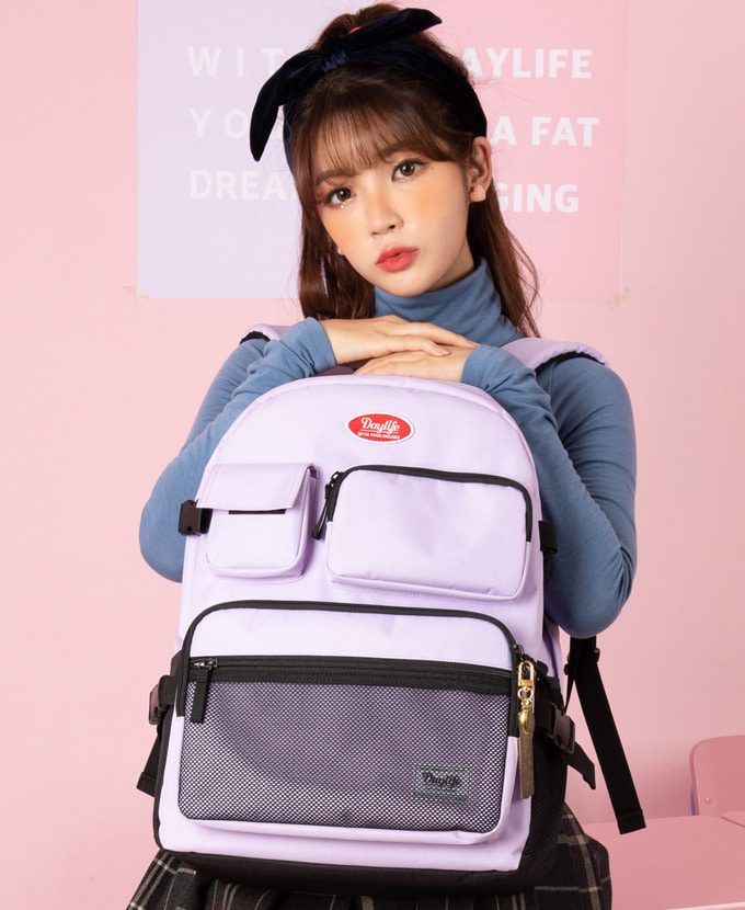 DAYLIFE MULTI POCKET BACKPACK(PURPLE)feat. EXOシウミン着用カバン