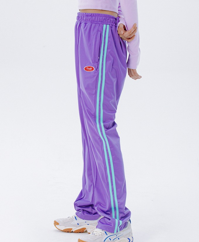 DAYLIFE LINE TRACK PANTS (PURPLE)