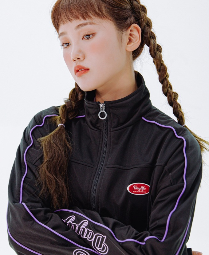 DAYLIFE LOGO TRACK JACKET (BLACK)