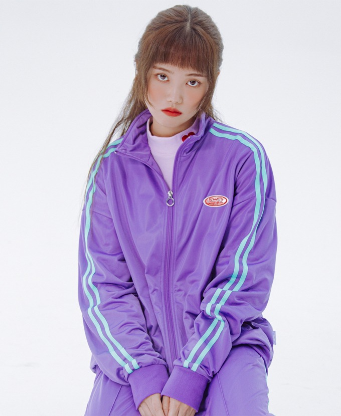 DAYLIFE LINE TRACK JACKET (PURPLE)