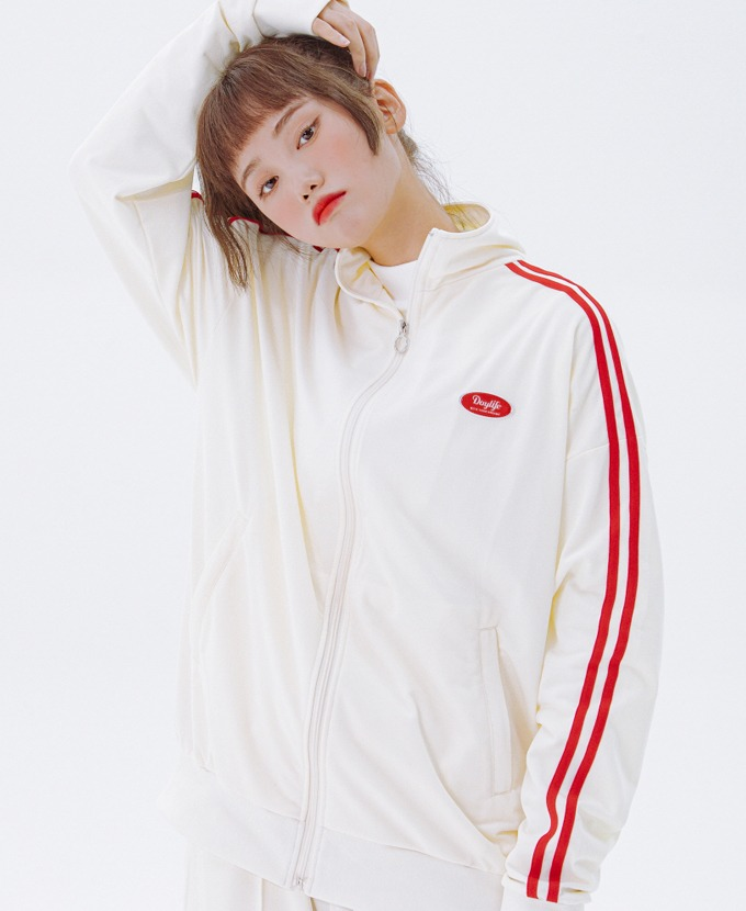 DAYLIFE LINE TRACK JACKET (WHITE)